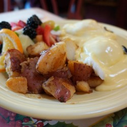 Enjoy Delicious ox Eggs Benedict at the Cottage Restaurant